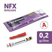 Ethylotest neutre NFX - Taux 0,2 g/l
